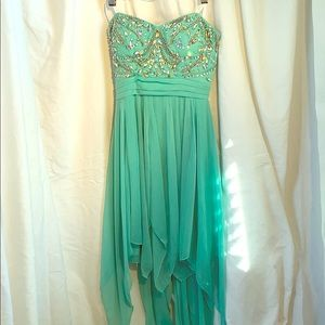 """3/40 City triangles mint Green Party dress """"TINK"""""""